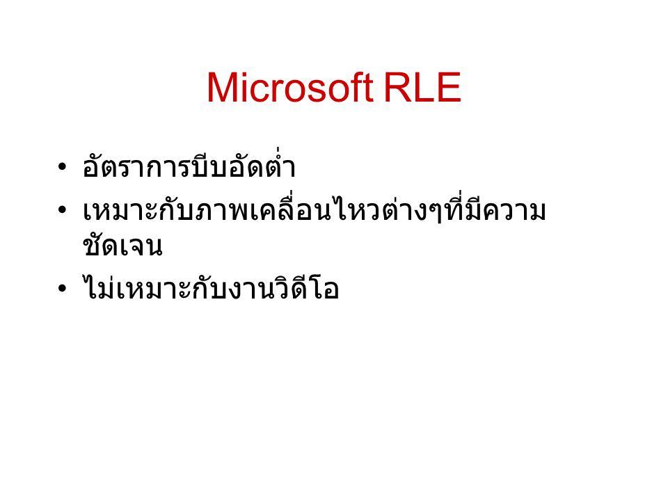 Microsoft RLE อัตราการบีบอัดต่ำ