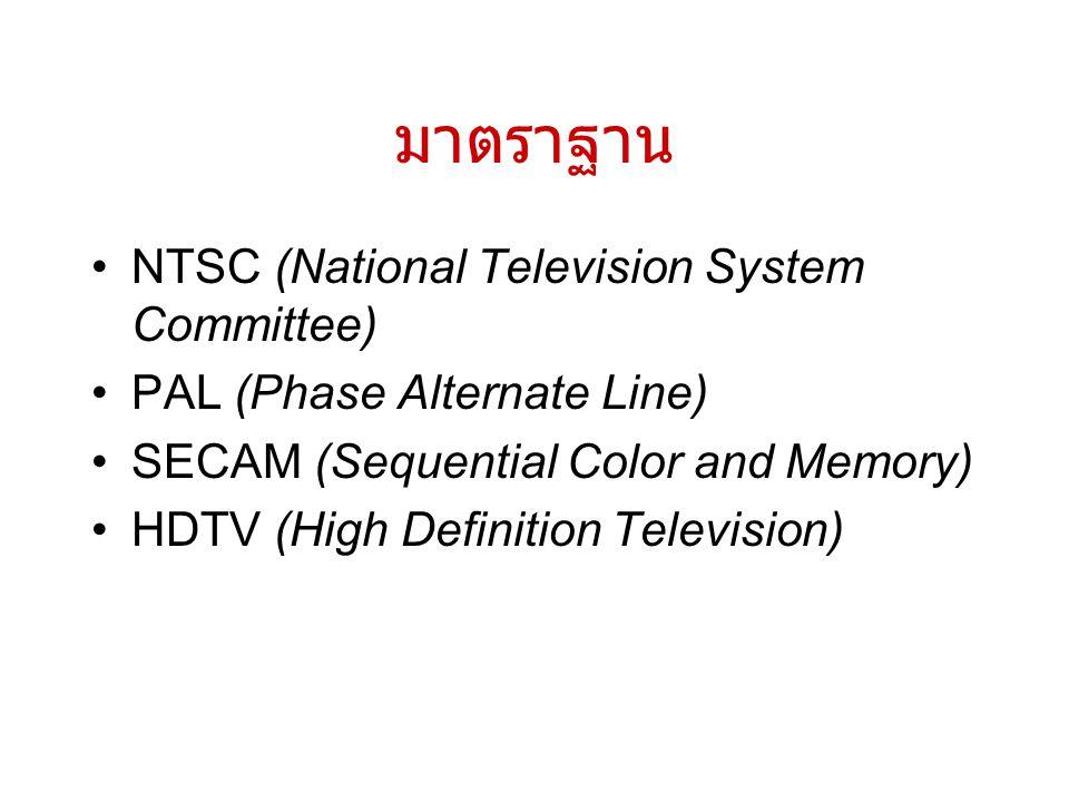 มาตราฐาน NTSC (National Television System Committee)