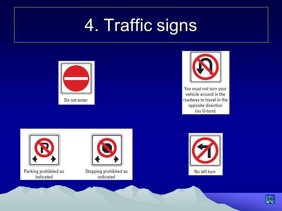 4. Traffic signs