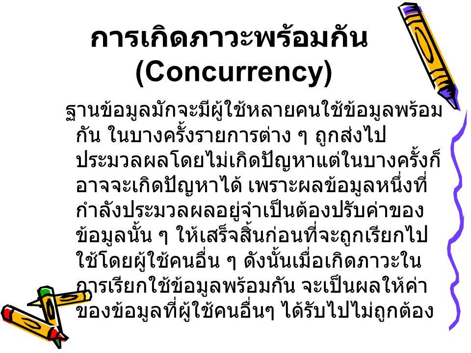 การเกิดภาวะพร้อมกัน (Concurrency)