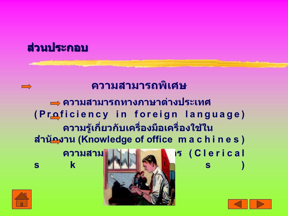 ความสามารถทางภาษาต่างประเทศ (Proficiency in foreign language)