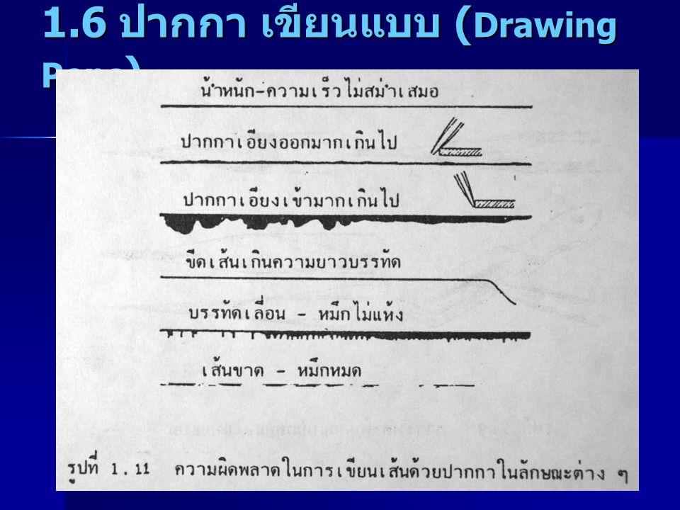 1.6 ปากกา เขียนแบบ (Drawing Pens)