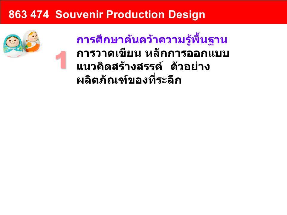 1 863 474 Souvenir Production Design การศึกษาค้นคว้าความรู้พื้นฐาน
