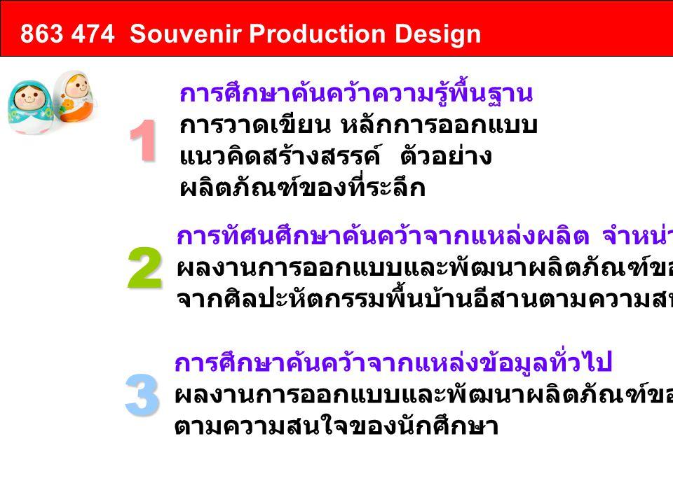 1 2 3 863 474 Souvenir Production Design การศึกษาค้นคว้าความรู้พื้นฐาน