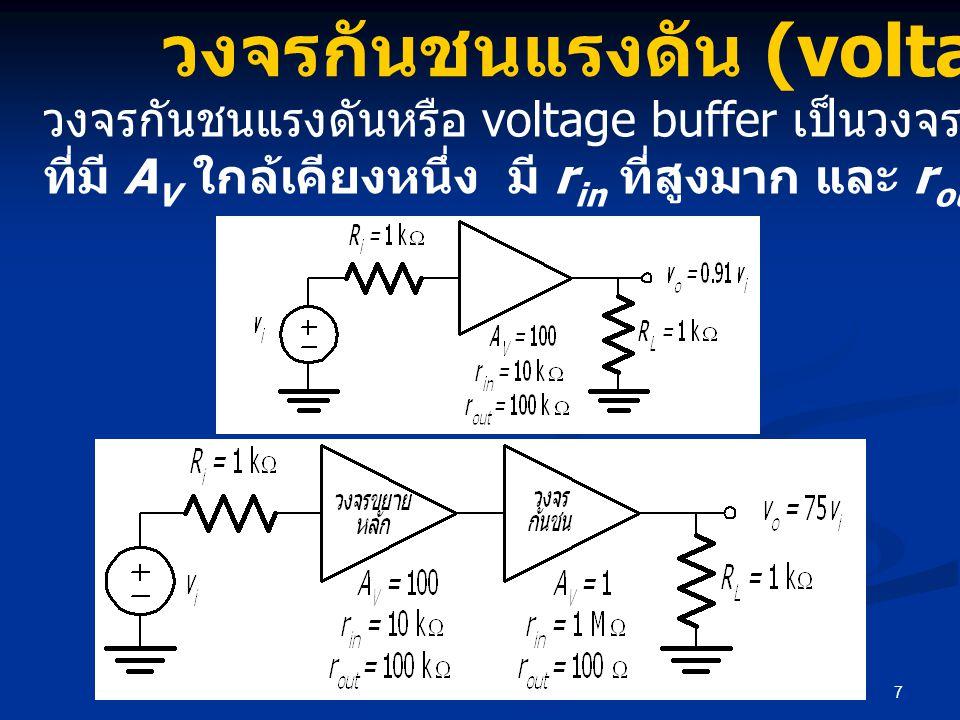 วงจรกันชนแรงดัน (voltage buffer)