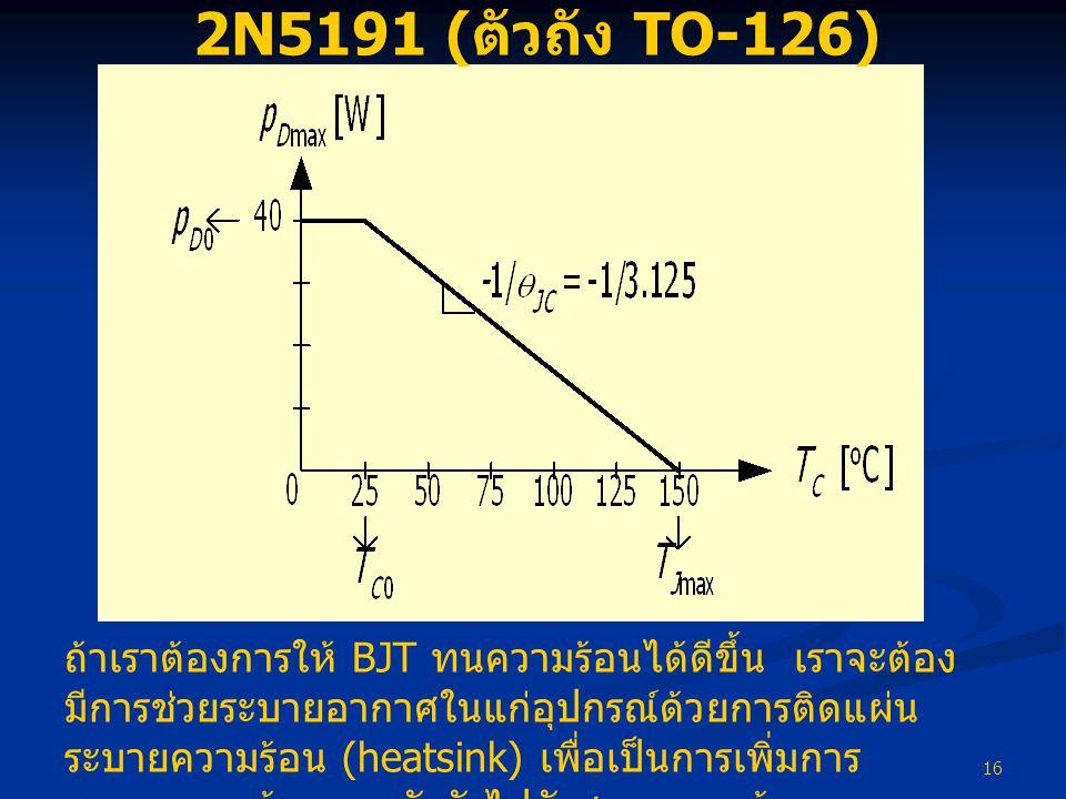 2N5191 (ตัวถัง TO-126)