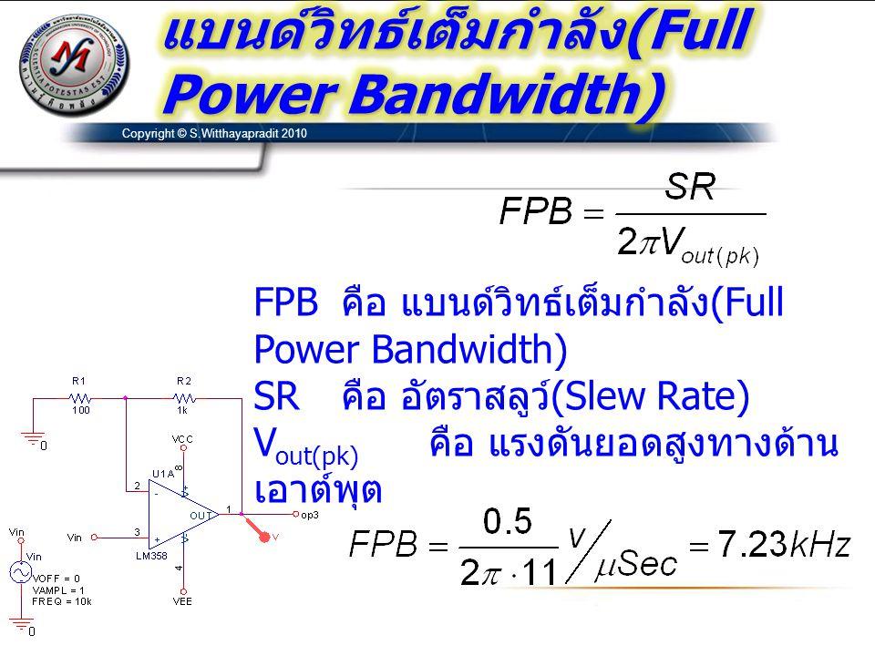 แบนด์วิทธ์เต็มกำลัง(Full Power Bandwidth)