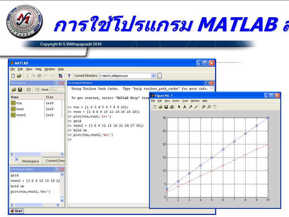 การใช้โปรแกรม MATLAB สร้างกราฟ