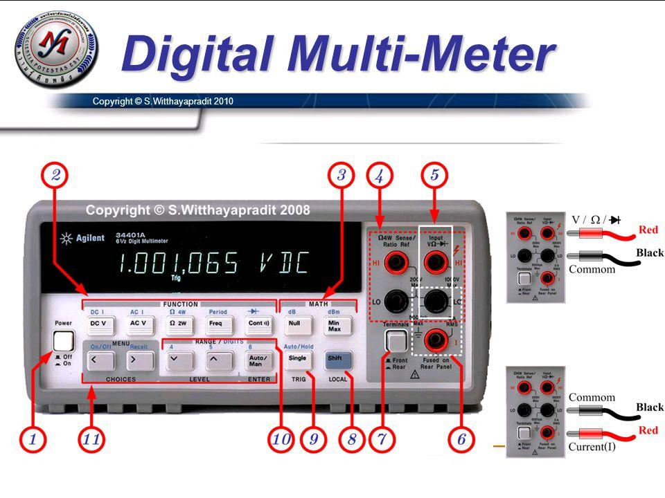 Digital Multi-Meter Copyright © S.Witthayapradit 2010