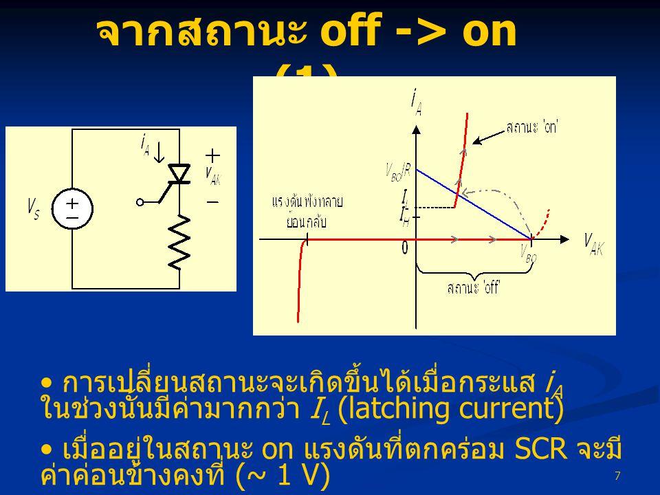 จากสถานะ off -> on (1)