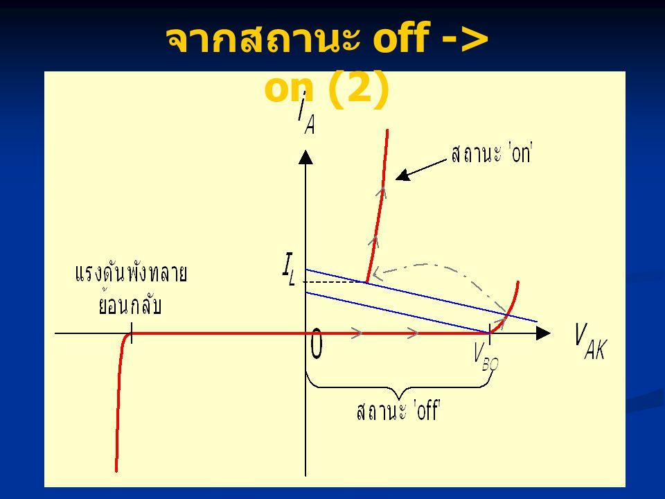 จากสถานะ off -> on (2)