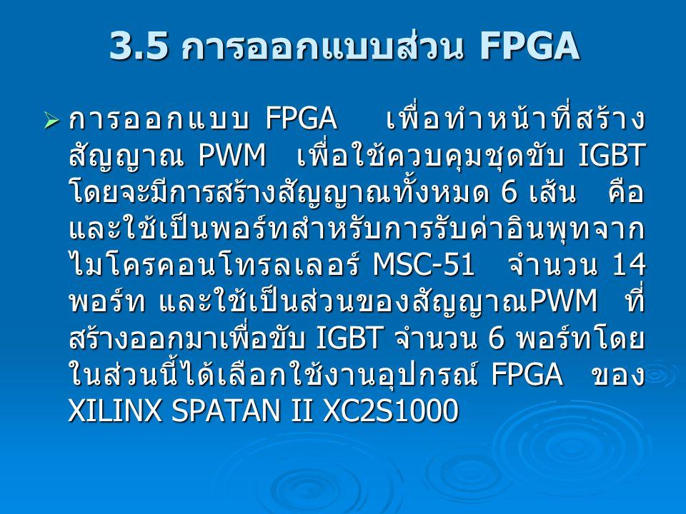 3.5 การออกแบบส่วน FPGA