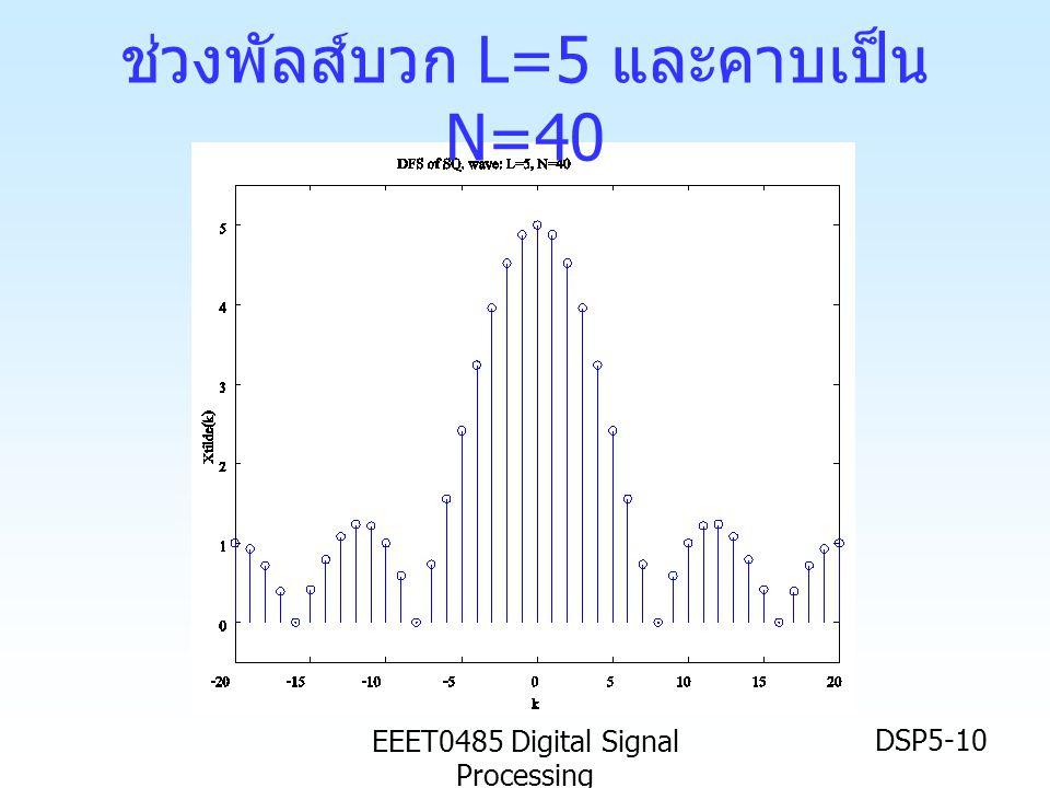 ช่วงพัลส์บวก L=5 และคาบเป็น N=40