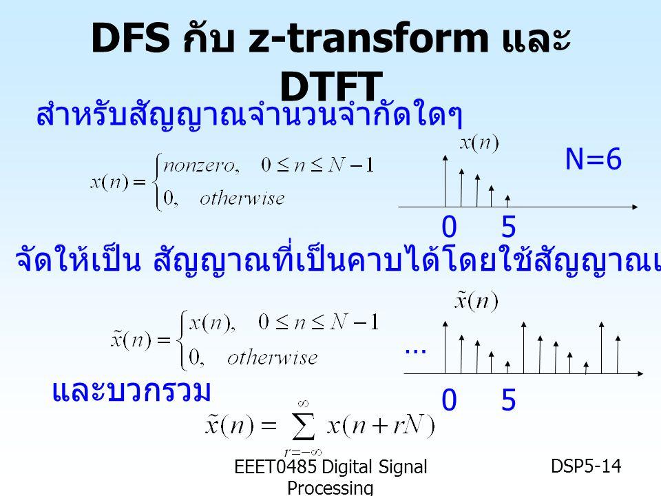 DFS กับ z-transform และ DTFT