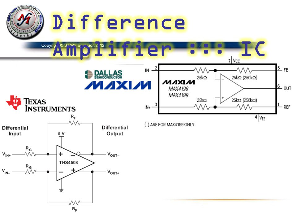 Difference Amplifier ::: IC