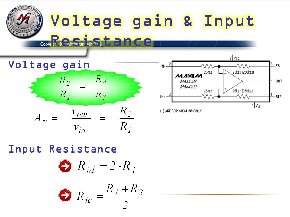 Voltage gain & Input Resistance