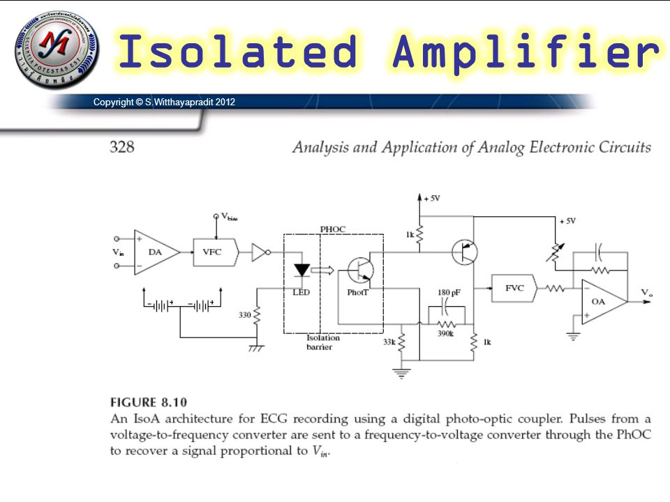 Isolated Amplifier Copyright © S.Witthayapradit 2012