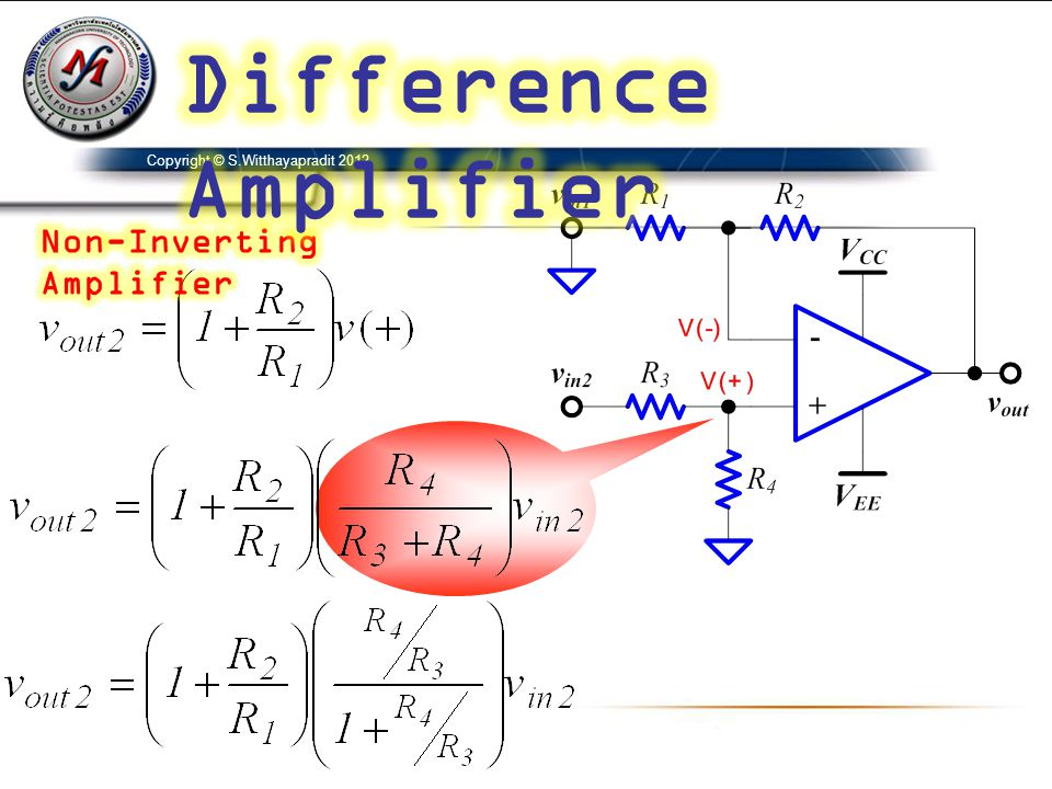 Difference Amplifier Non-Inverting Amplifier