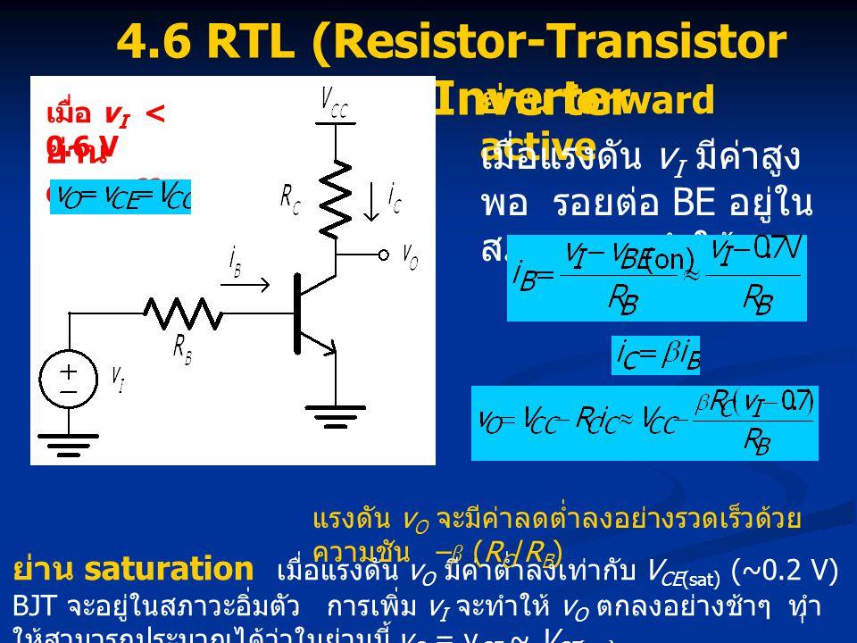4.6 RTL (Resistor-Transistor Logic) Inverter