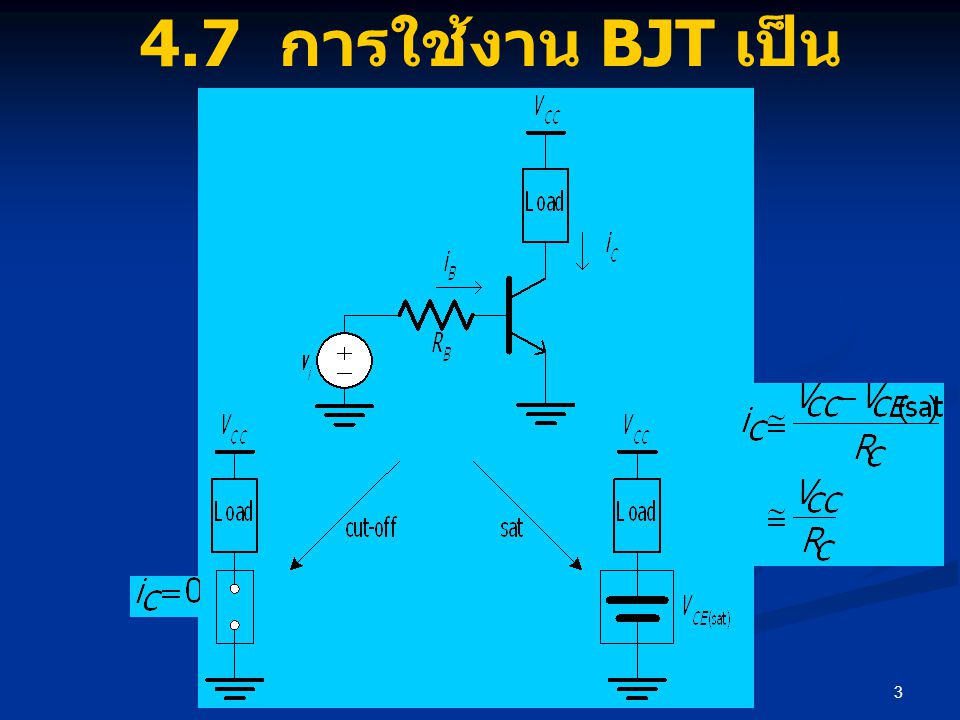 4.7 การใช้งาน BJT เป็นสวิตช์ขับกระแส