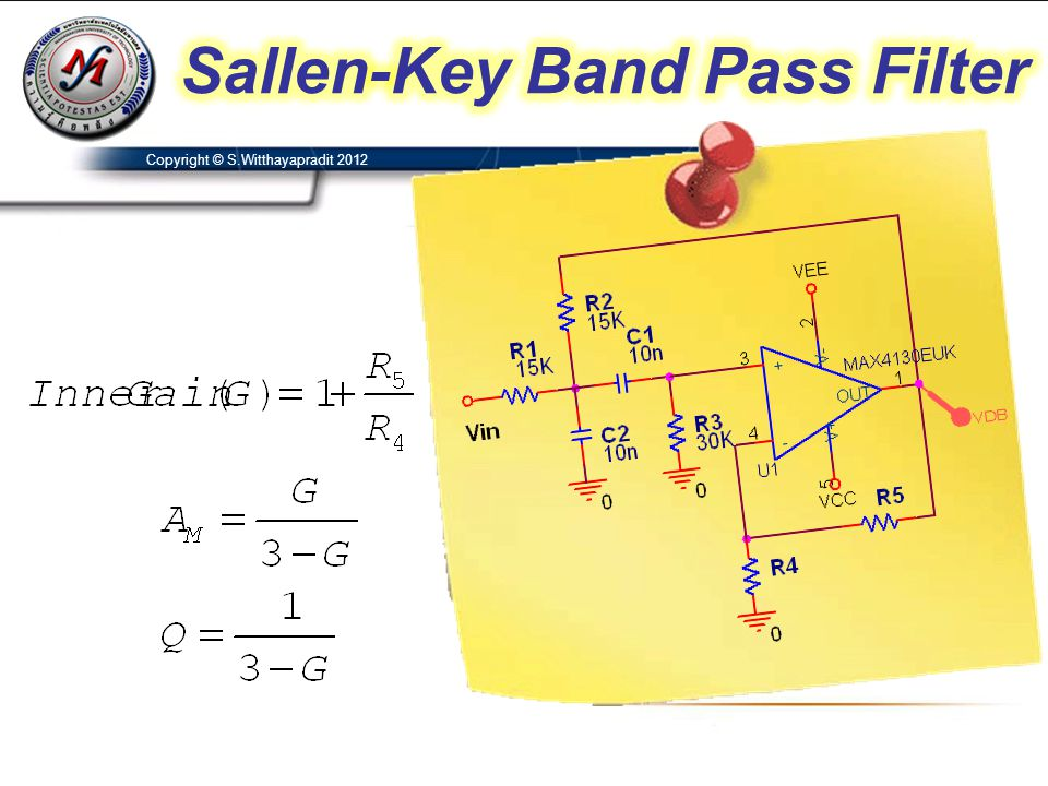 Sallen-Key Band Pass Filter