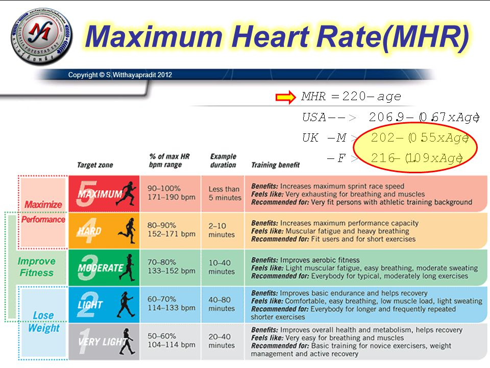 Maximum Heart Rate(MHR)