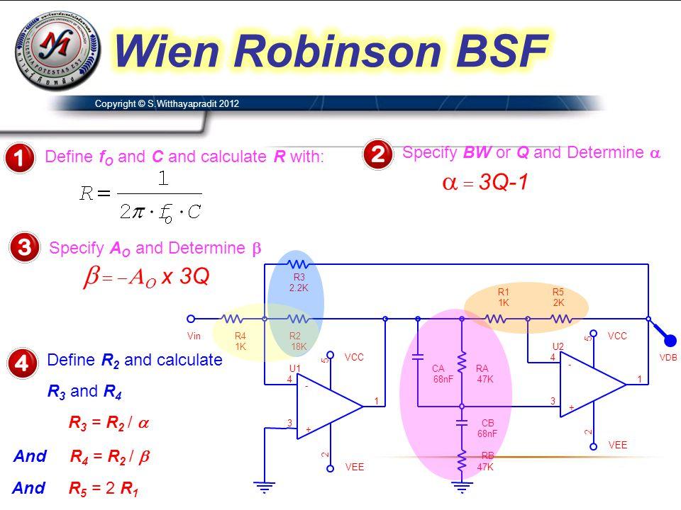 Wien Robinson BSF a = 3Q-1 b = -AO x 3Q