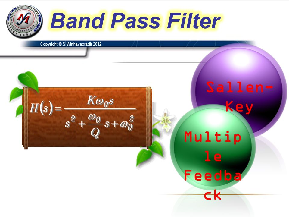 Band Pass Filter Sallen-Key Multiple Feedback