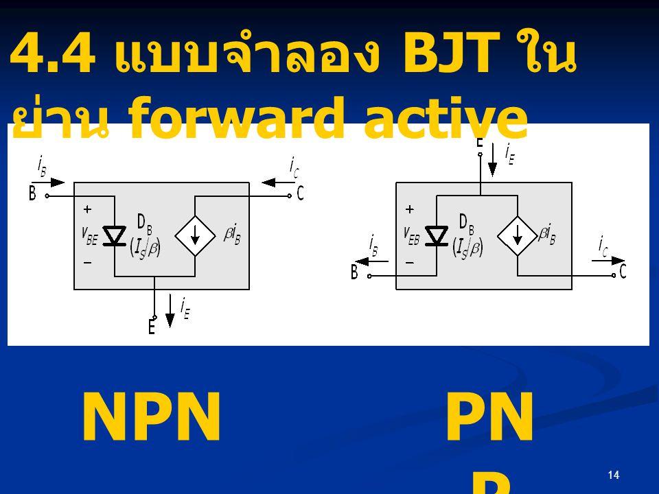 4.4 แบบจำลอง BJT ในย่าน forward active
