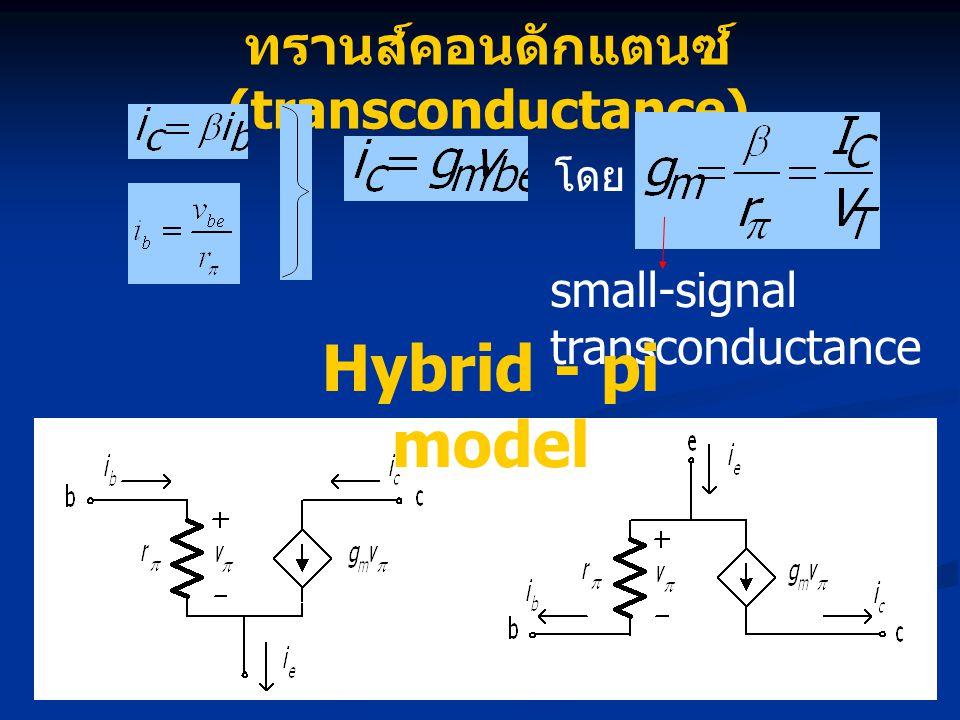 ทรานส์คอนดักแตนซ์ (transconductance)
