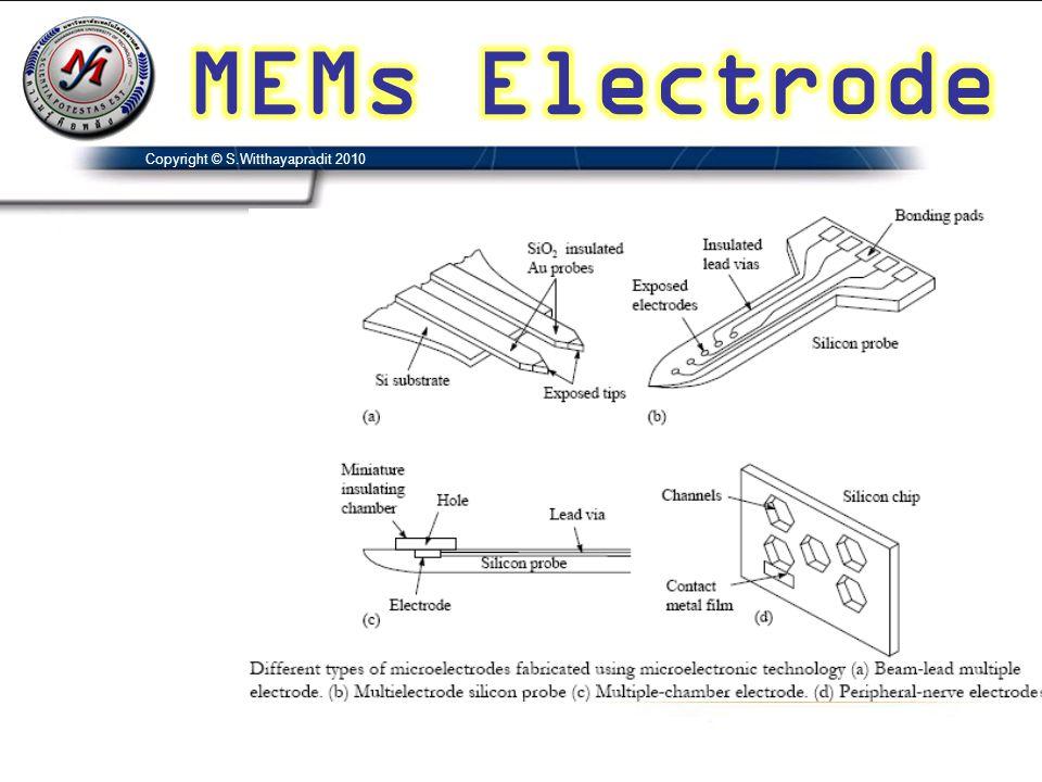MEMs Electrode Copyright © S.Witthayapradit 2010