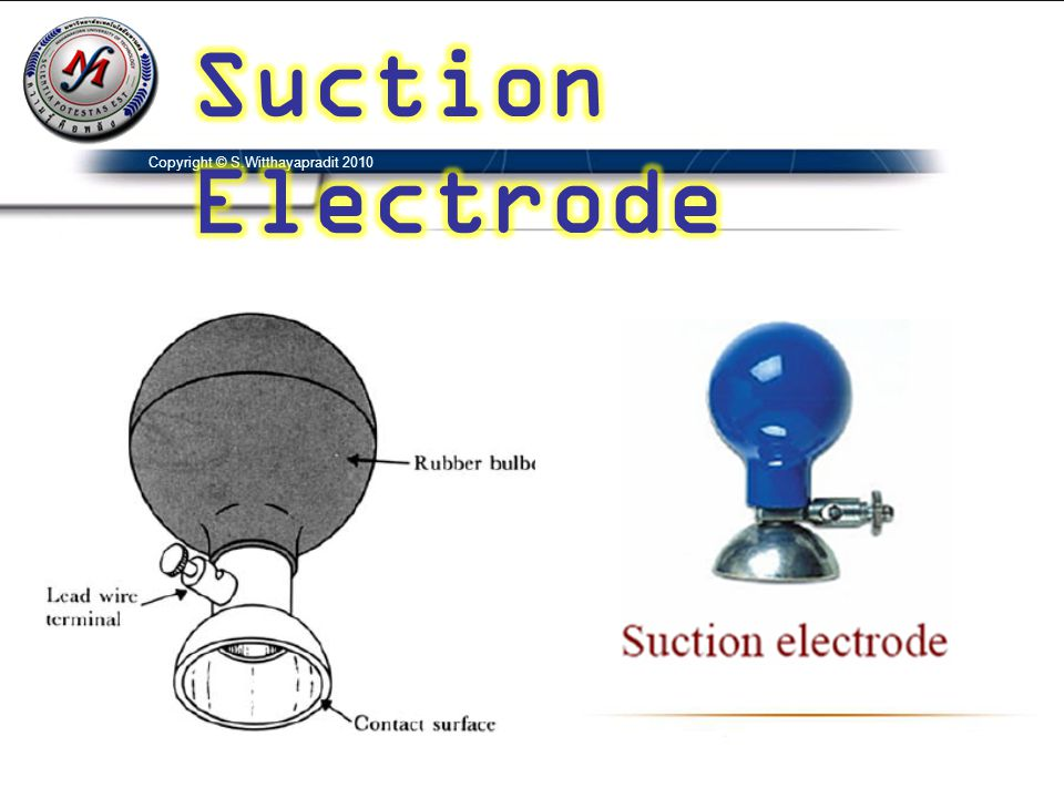 Suction Electrode Copyright © S.Witthayapradit 2010