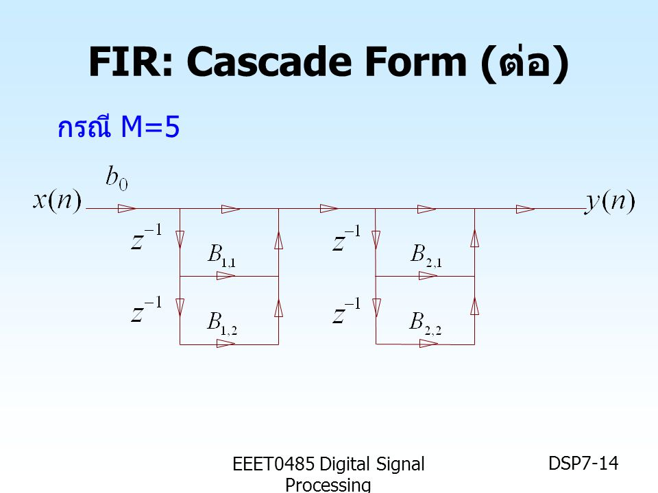 FIR: Cascade Form (ต่อ)