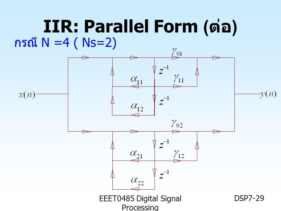 IIR: Parallel Form (ต่อ)