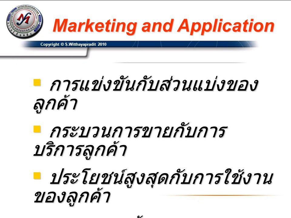 การแข่งขันกับส่วนแบ่งของลูกค้า กระบวนการขายกับการบริการลูกค้า