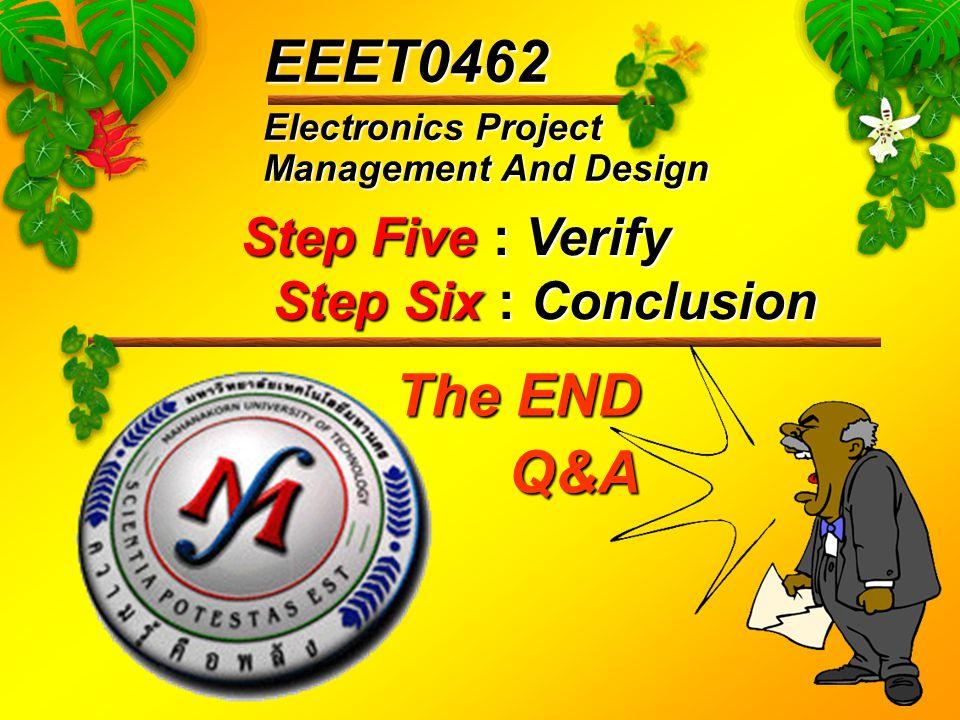 Step Five : Verify Step Six : Conclusion