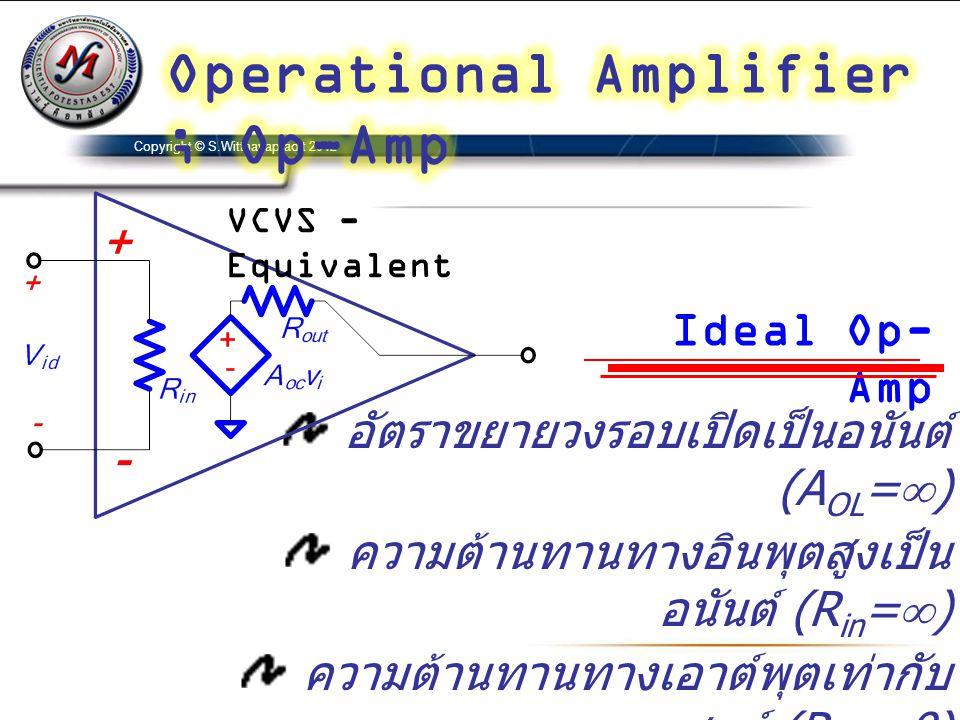 Operational Amplifier ; Op-Amp
