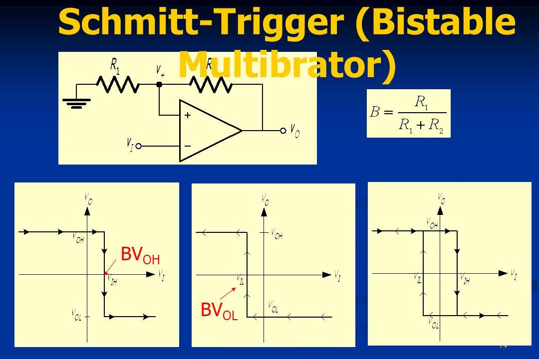 Schmitt-Trigger (Bistable Multibrator)