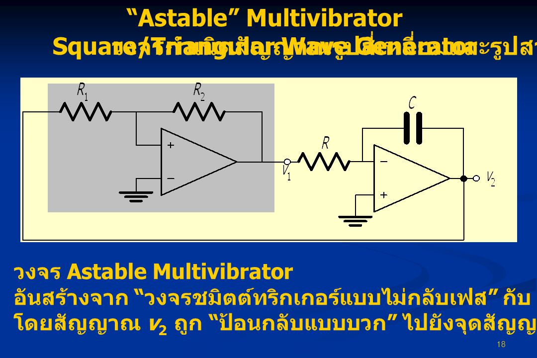 Astable Multivibrator Square/Triangular Wave Generator