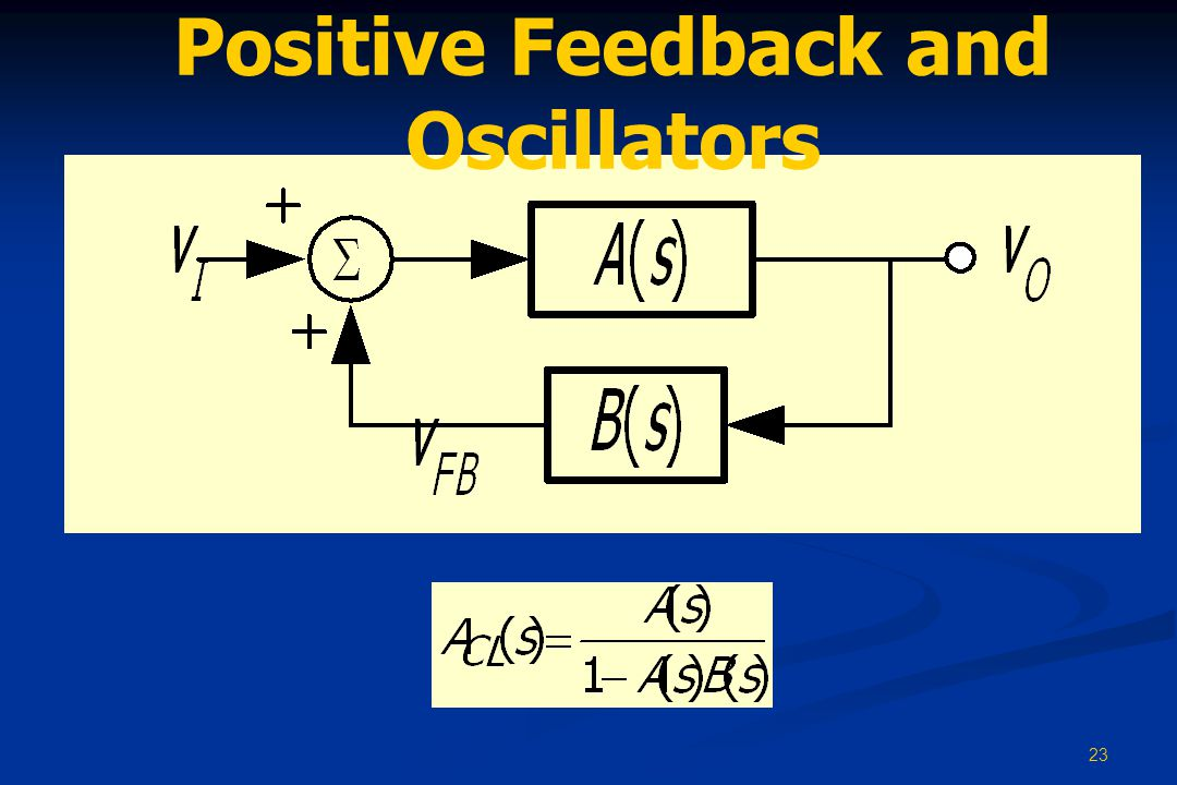 Positive Feedback and Oscillators