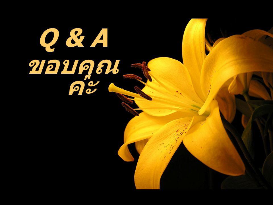 Q & A ขอบคุณค่ะ