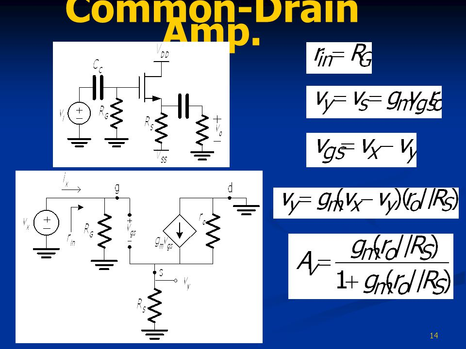 Common-Drain Amp.