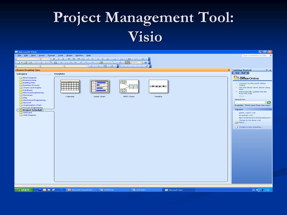 Project Management Tool: Visio