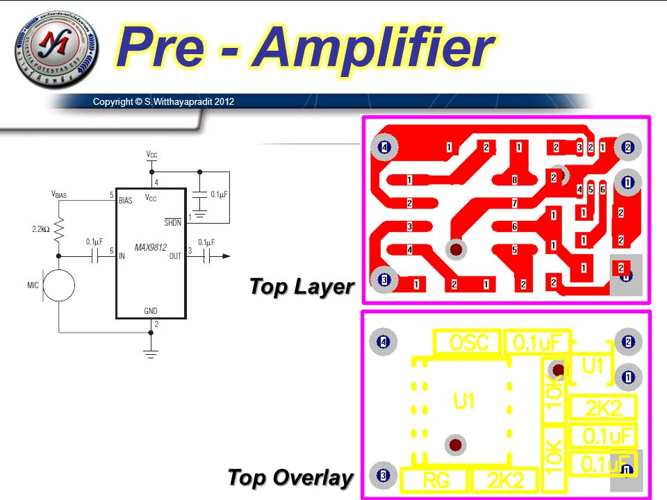Pre - Amplifier Top Layer Top Overlay