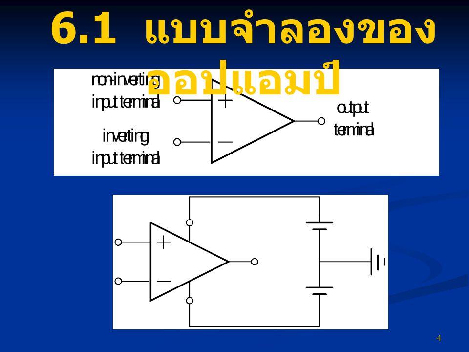 6.1 แบบจำลองของออปแอมป์