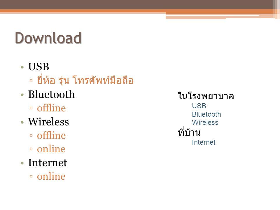 Download USB Bluetooth Wireless Internet ยี่ห้อ รุ่น โทรศัพท์มือถือ