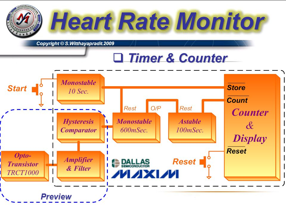Heart Rate Monitor Timer & Counter Preview