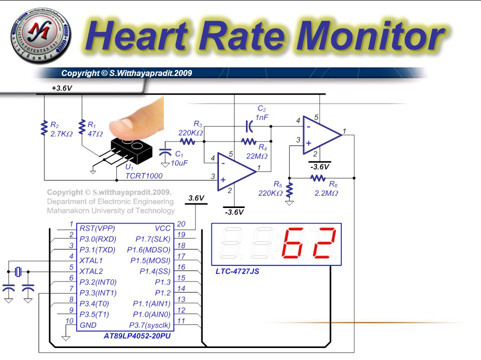 Heart Rate Monitor Copyright © S.Witthayapradit.2009