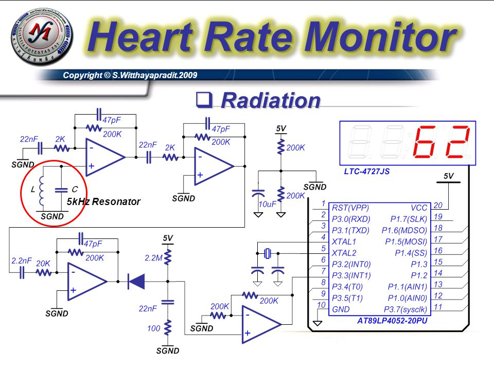 Heart Rate Monitor Radiation 5kHz Resonator