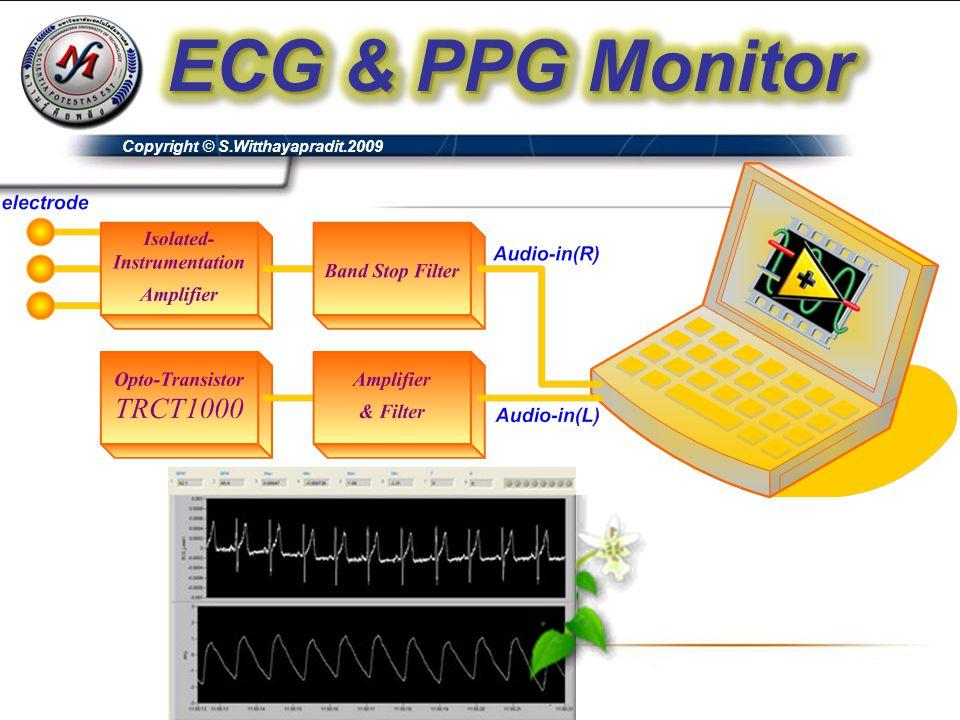 ECG & PPG Monitor Copyright © S.Witthayapradit.2009